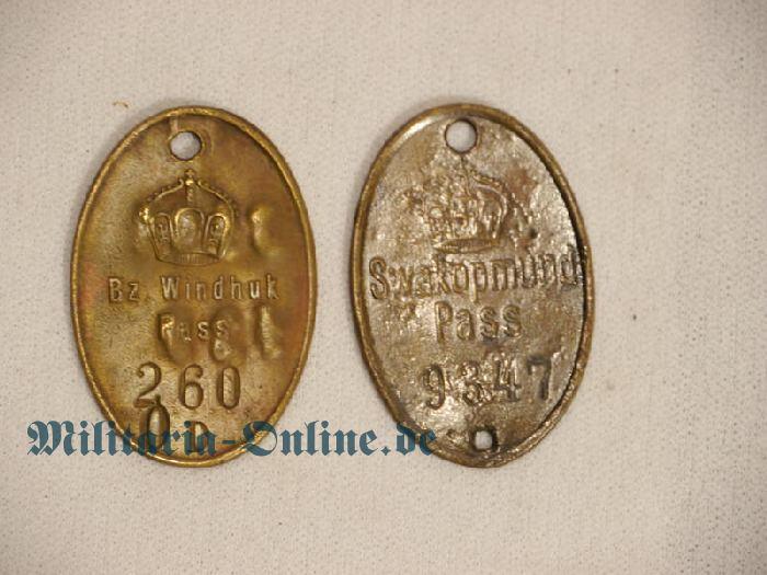 Deutsches Reich 2 Passmarken