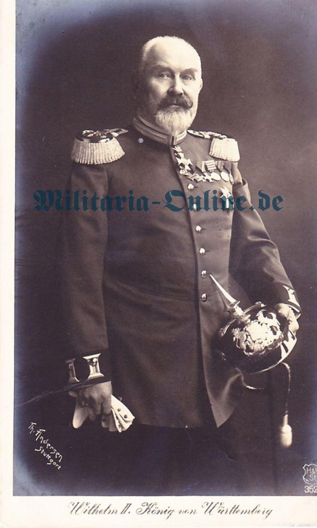 Postkarte König von Württemberg