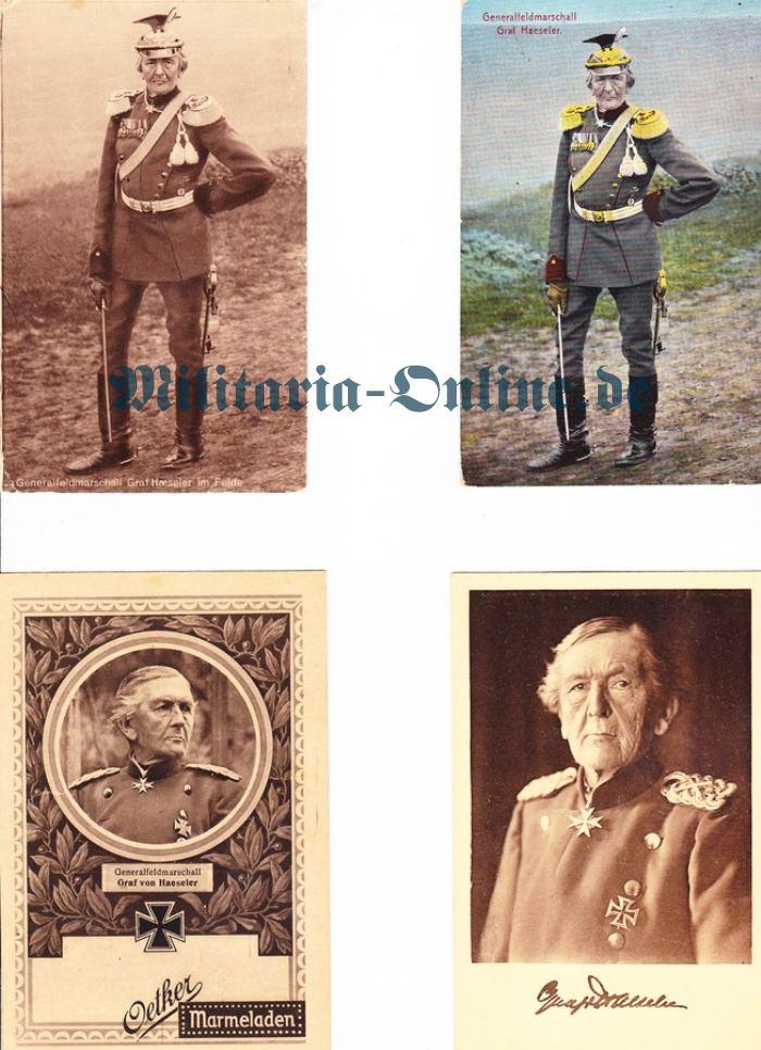 4 Postkarten Graf Haeseler