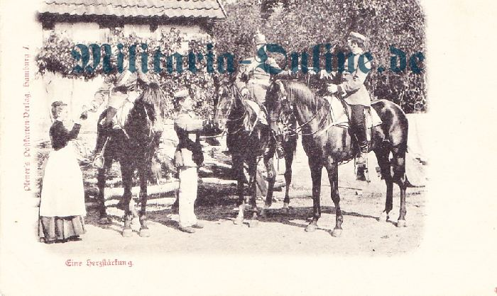 Postkarte Uniform 1870