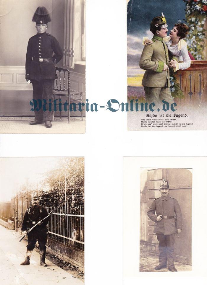 4 Postkarten Preussen Jäger