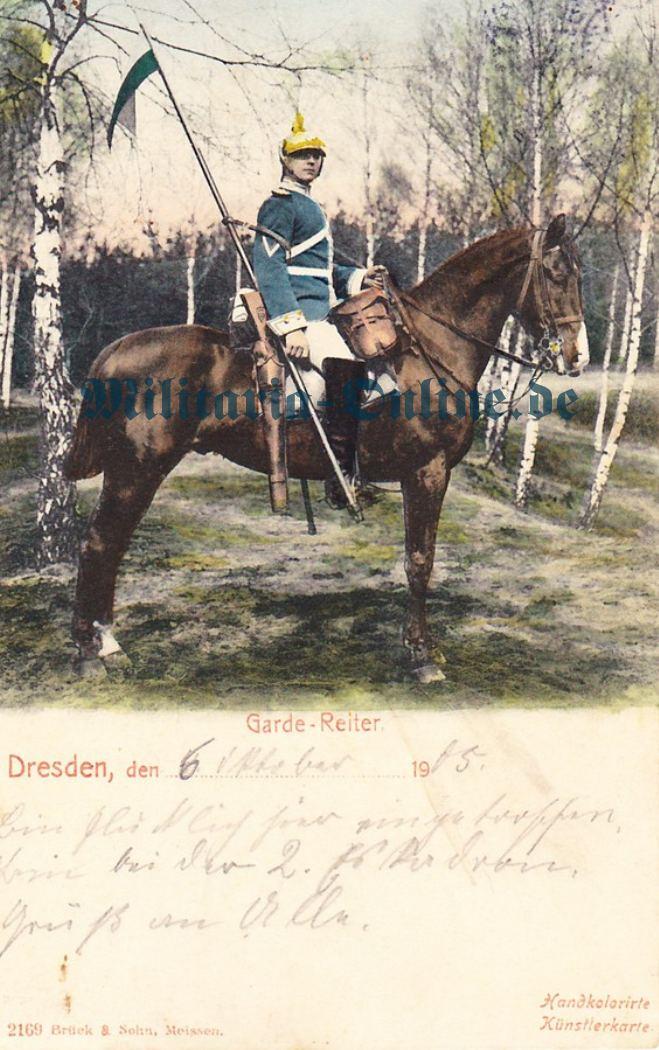 1 Postkarte Sachsen Garde Reiter