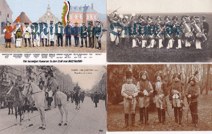 4 Postkarten Centenar Uniformen