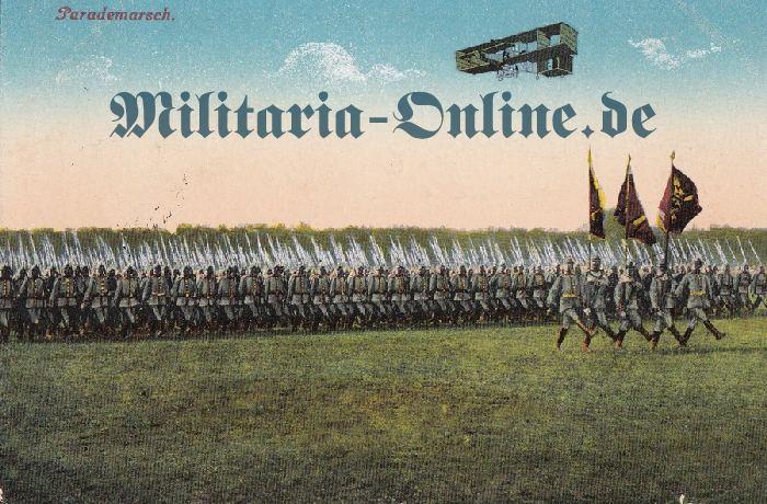 Postkarte Regt. Fahnen