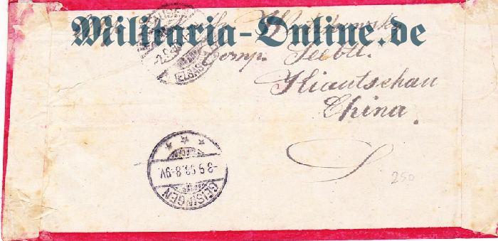 Deutsches Reich Seebatl. Brief