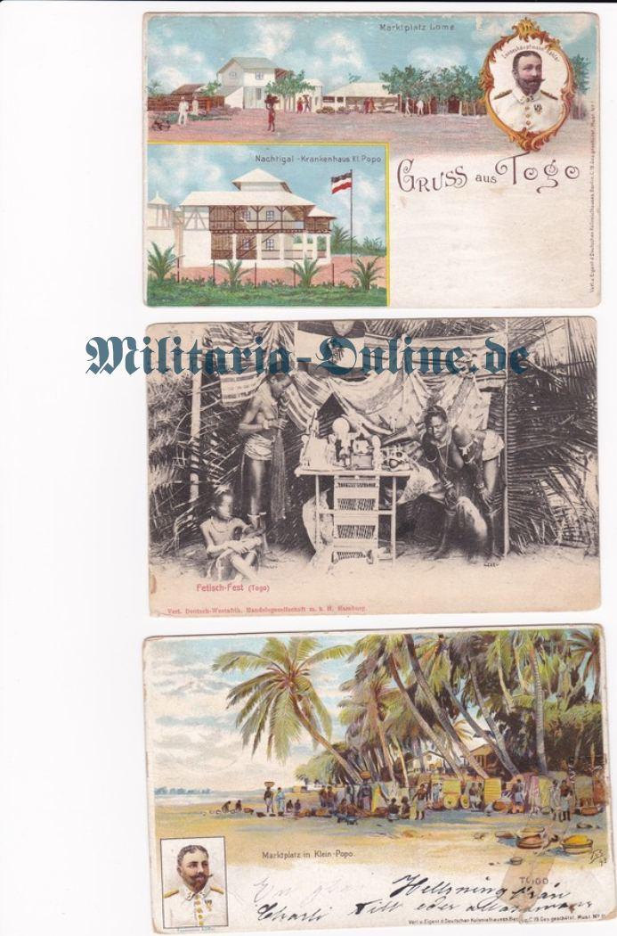 Deutsches Reich Togo 3 Postkarten