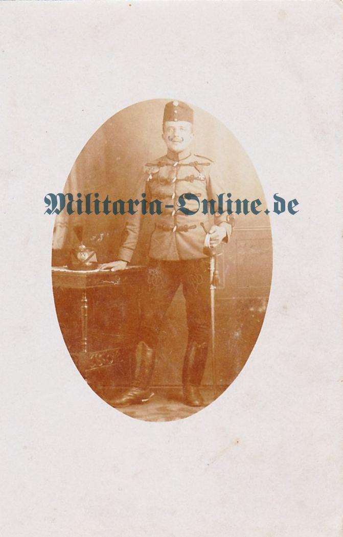 Österreich Postkarte Husaren