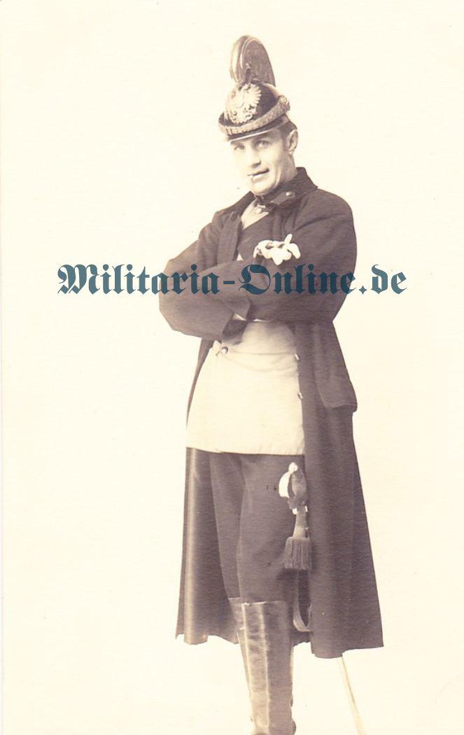 Österreich Postkarte Dragoner