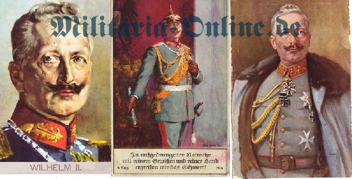 3 Postkarten Kaiser Wilhelm II