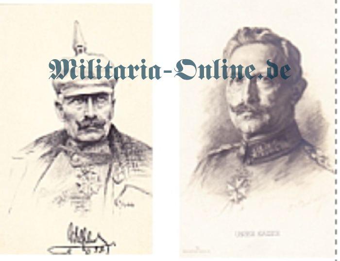 Postkarte 2 x Kaiser Wilhelm