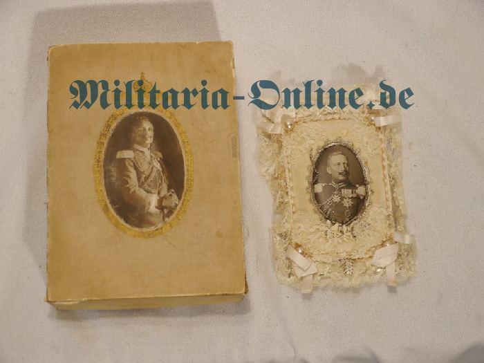 Foto mit Etui Kaiser Wilhelm II