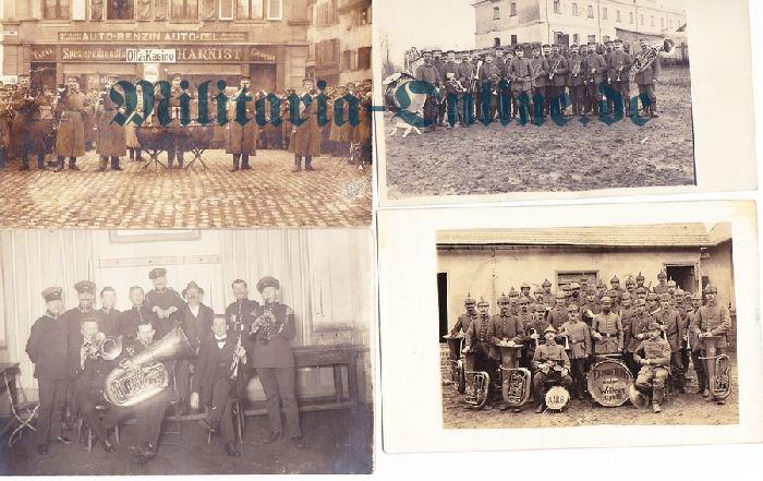 Postkarte 4 x musiker