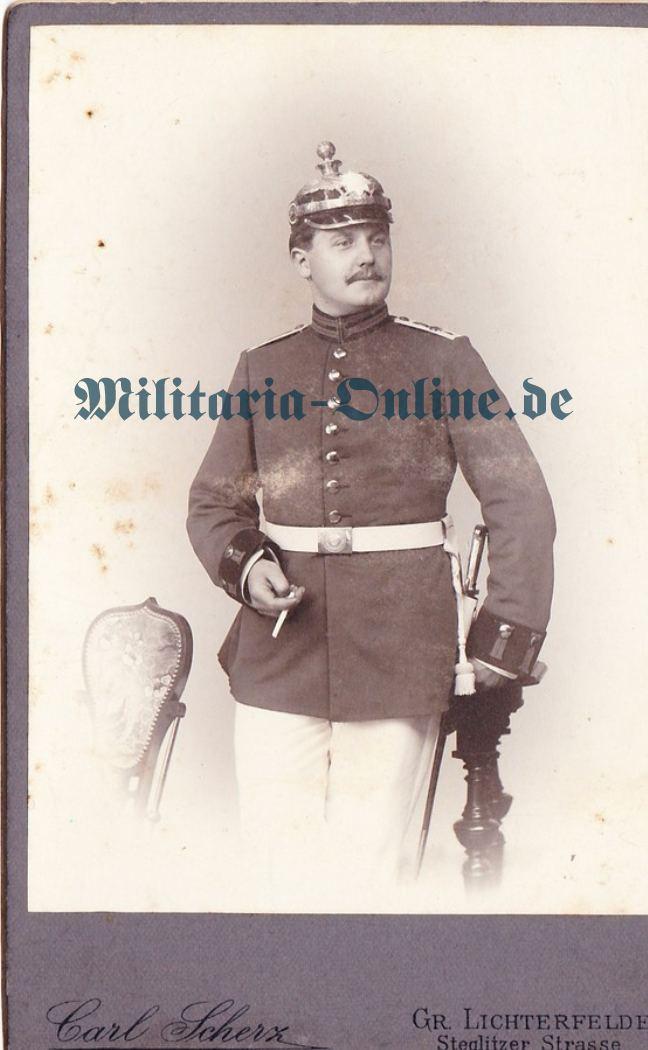 Preussen Fussart. Karton Foto