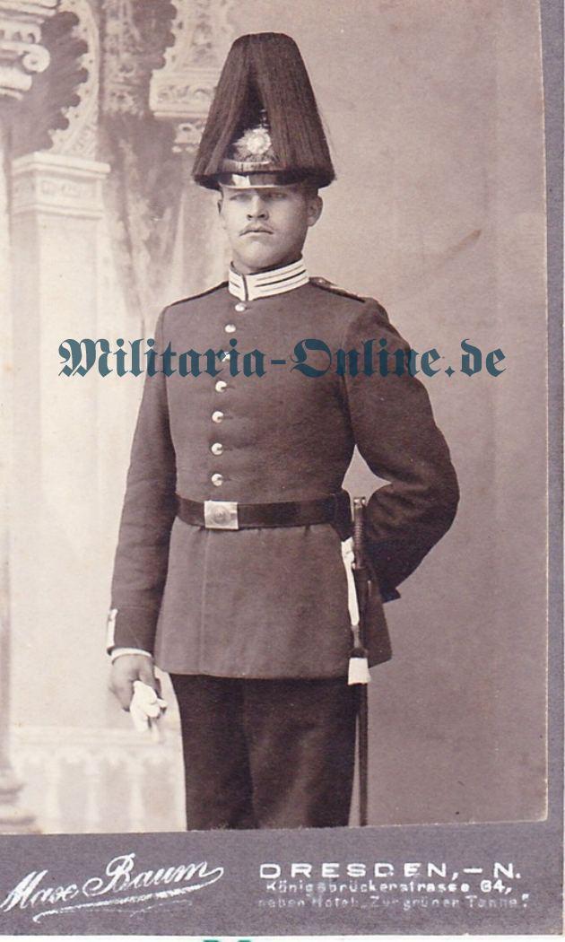 Sachsen Karabinier Karton Foto
