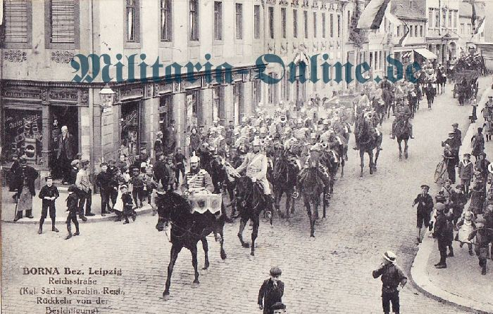 Sachsen Karabinier Postkarte