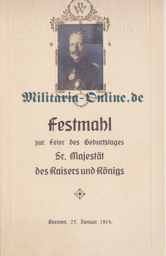 Preussen Einladungskarte
