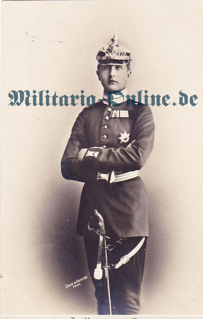 Postkarte 1 Garde Regt. z. F.