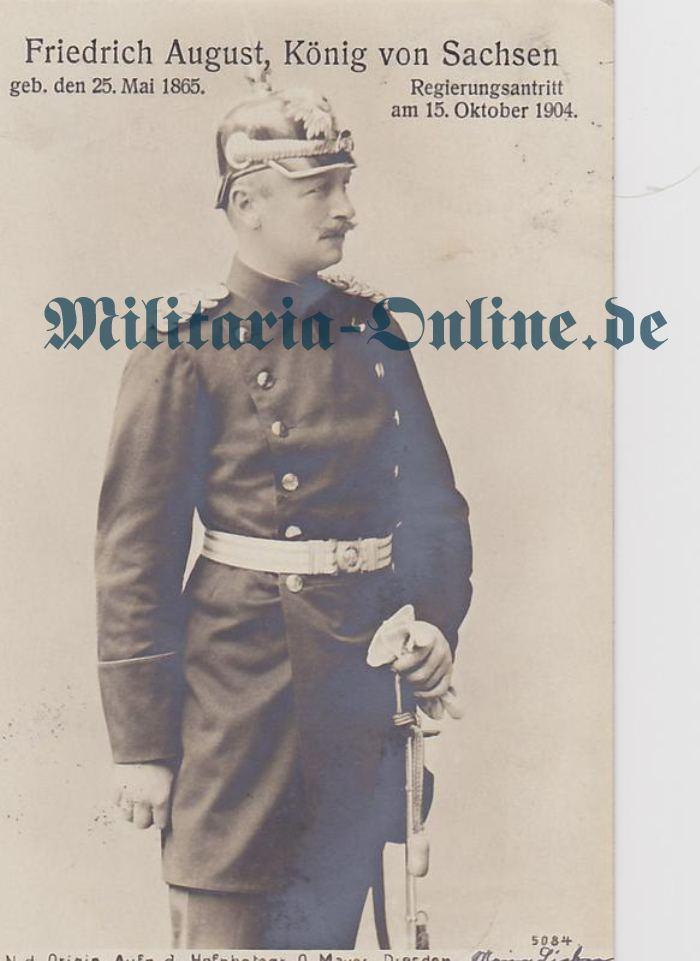 Sachsen Postkarte Generalhelm