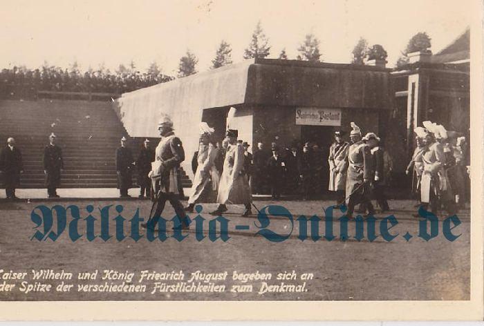 Sachsen Postkarte Garde Reiter