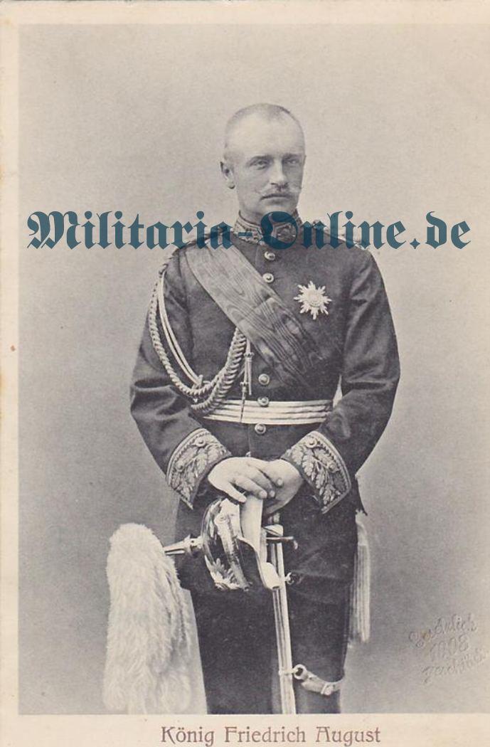 Sachsen Postkarte König