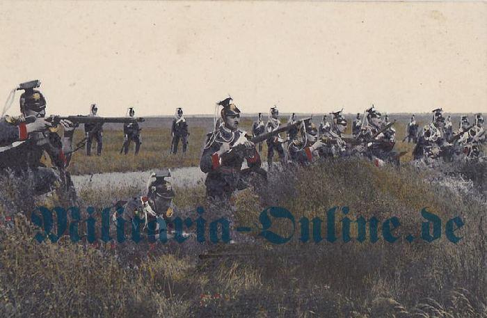 Sachsen Postkarte Ulanen