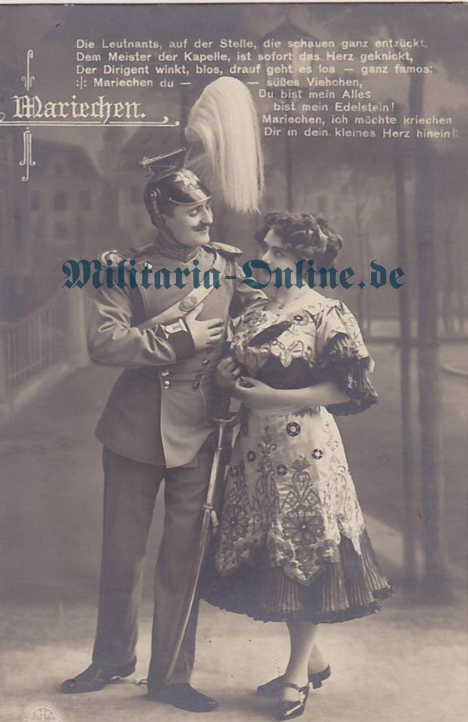 Sachsen Ulanen Postkarte