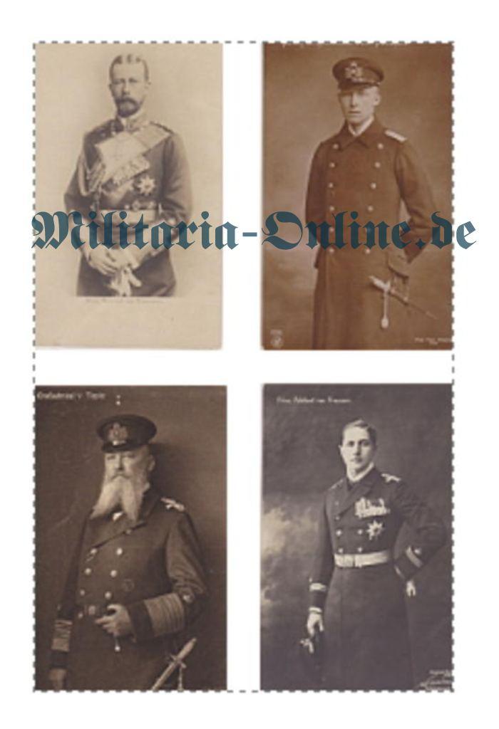 4 Postkarten Marine