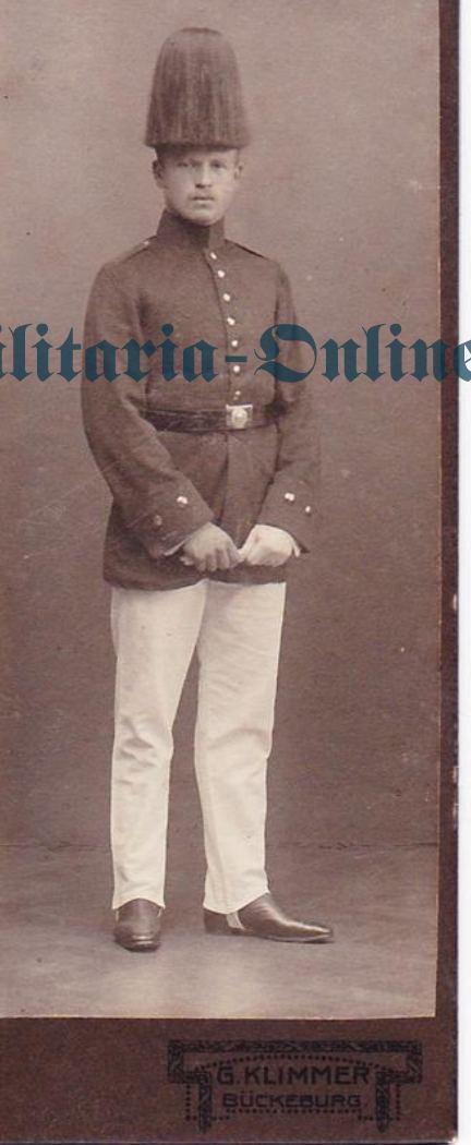 Karton Foto Preussen Jäger Batl.