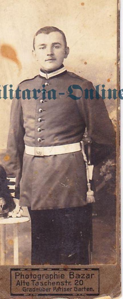 Karton Foto Preussen Grenadier