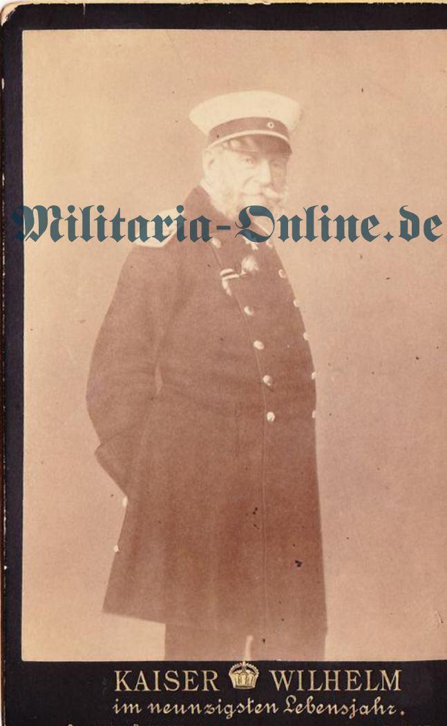 Karton Foto Kaiser Wilhelm